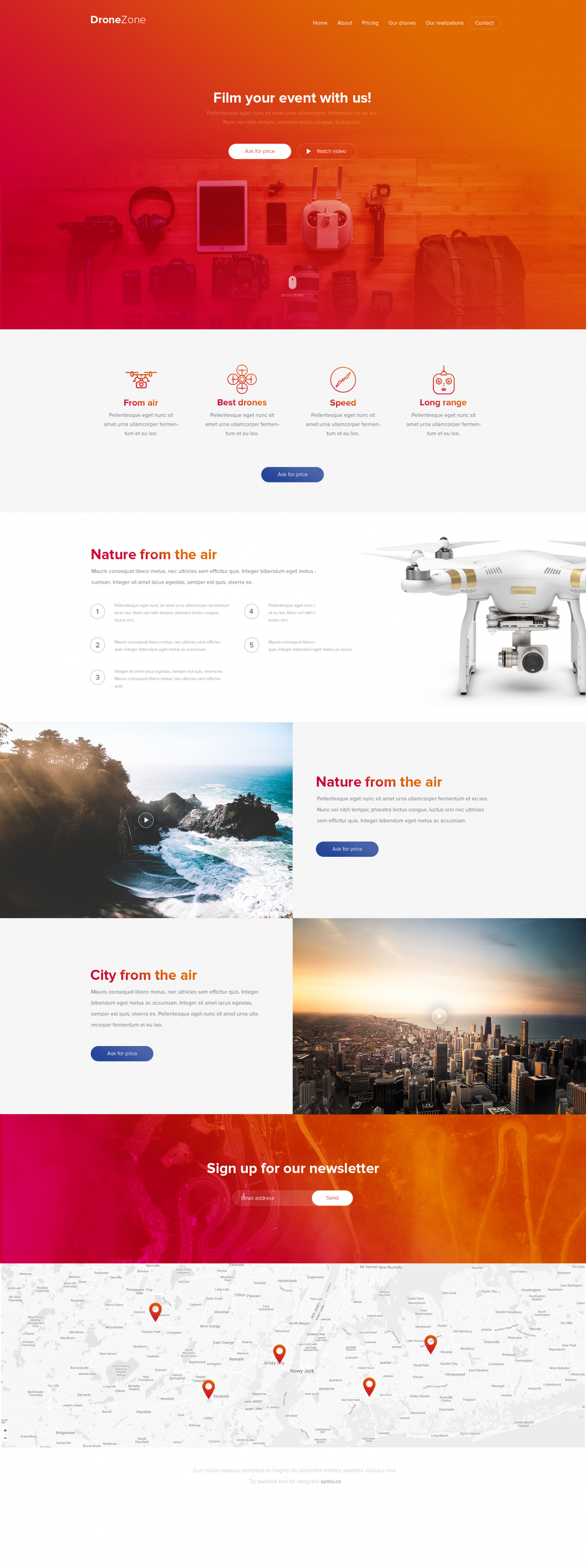 Drone zone - website template