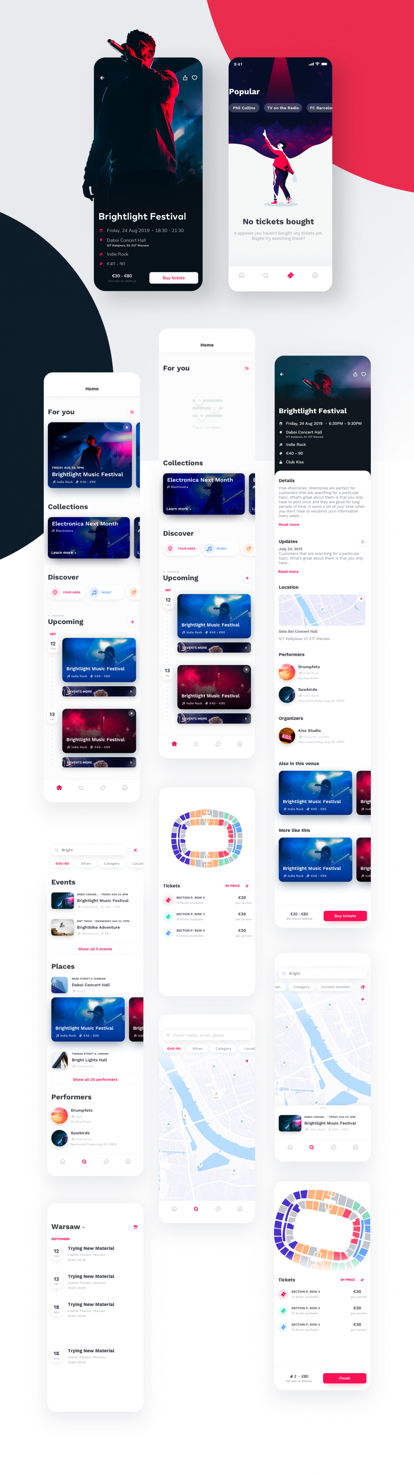 Ticketapp Figma and Sketch Template