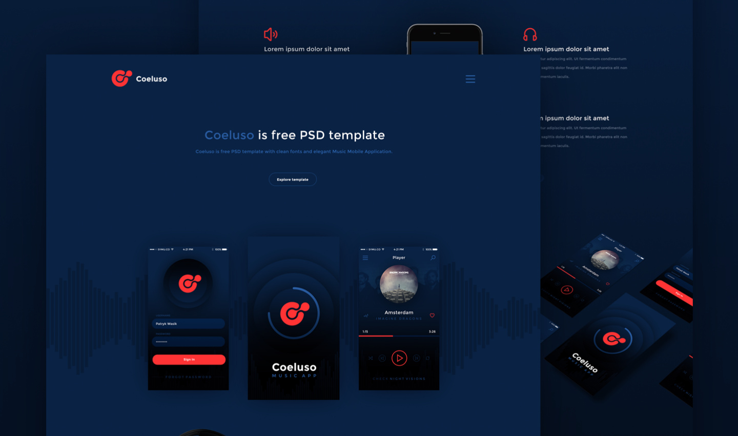coeluso psd template